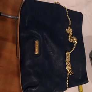 Steve Madden Blue/Tan Leather Purse